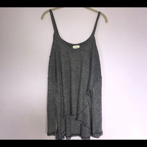 Anthropologie Deletta Gray Cold Shoulder Sweater